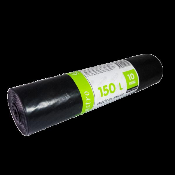 Vreće za smeće crne 90x110-10 (150 lit)